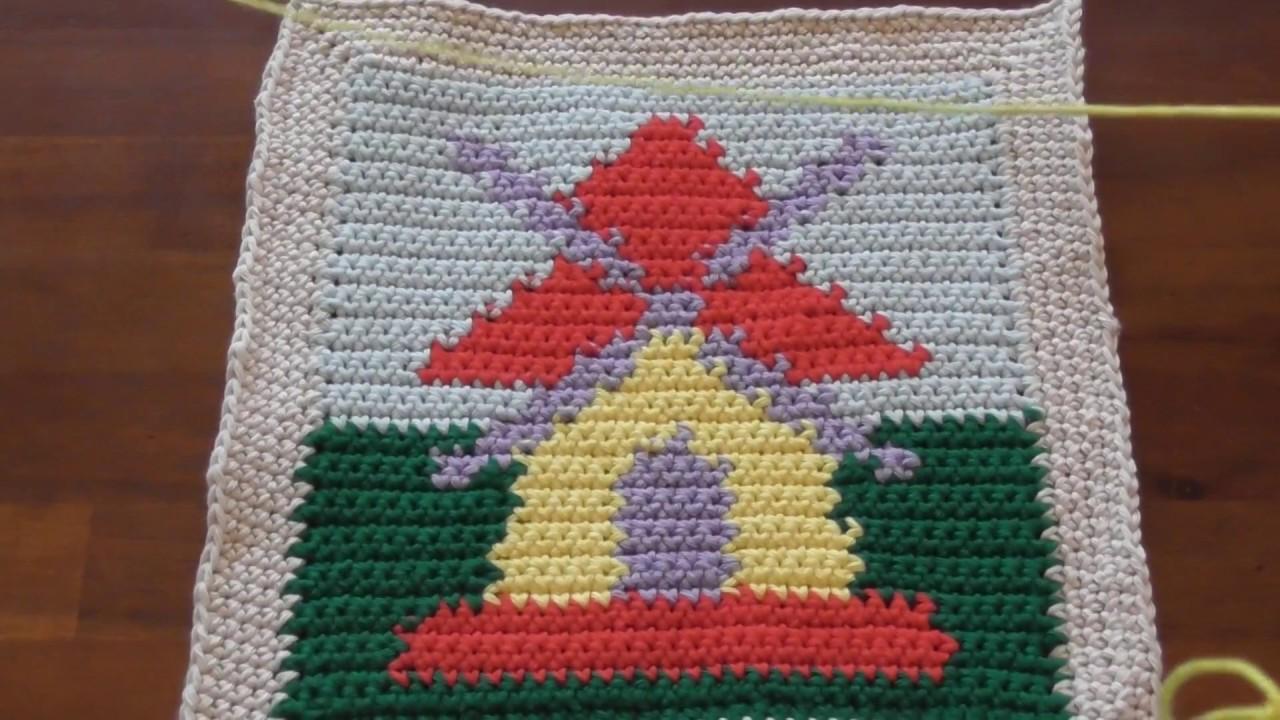 C2c Häkeln Corner To Corner Crochet Motivdecke Häkeln Part 61