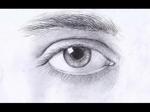 Как рисовать глаз мужчины