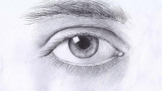 Как рисовать ГЛАЗ карандашом. Урок 57. How to Draw a Realistic Eye. Lesson 57(Изучим, как рисовать глаз карандашом. How to Draw a Realistic Eye . В данном уроке рассматриваются правила передачи..., 2015-03-15T19:23:00.000Z)