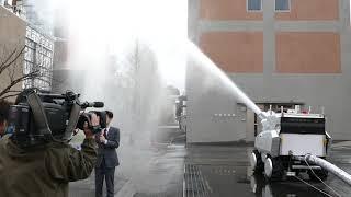 放水砲ロボット 放水