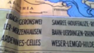WWII tank commander map Trent Gribben!