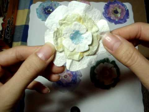 Making Flower Embellishments from Mulberry Paper