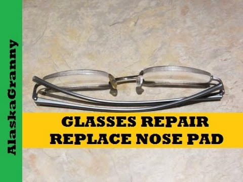 9318b0edf8d4 How to Fix Nose Pads on Eyeglasses - YouTube
