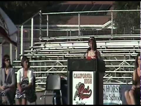 Iron Horse Middle School 8th Grade Graduation Speech