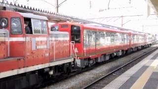 会津鉄道AT-700形・AT-750形甲種輸送 会津若松駅構内入換