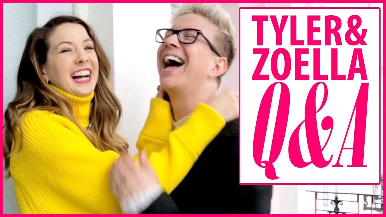 Tyler Oakley & Zoella's Q&A: Celeb Crushes, Spirit Animals ...