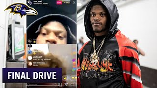 Lamar Jackson Chats Live With Fans, Tells Kid to Get Grades Up | Ravens Final Drive