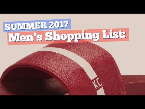 Men's Shopping List: Pool Slides // Summer 2017