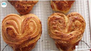 Yumuşacık KALP ÇÖREK-PASTA Tarifi|Pasta Tarifleri|Hamur işleri|Masmavi3 Mutfakta
