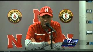 Mike Riley addresses media after Huskers win in Big Ten Conference game