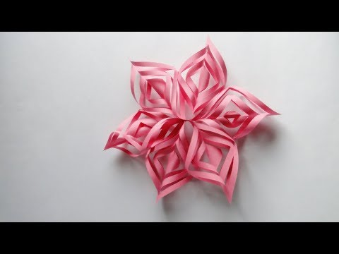 How to Make a 3D Paper Snowflake for Christmas | 3D Paper Snowflake DIY