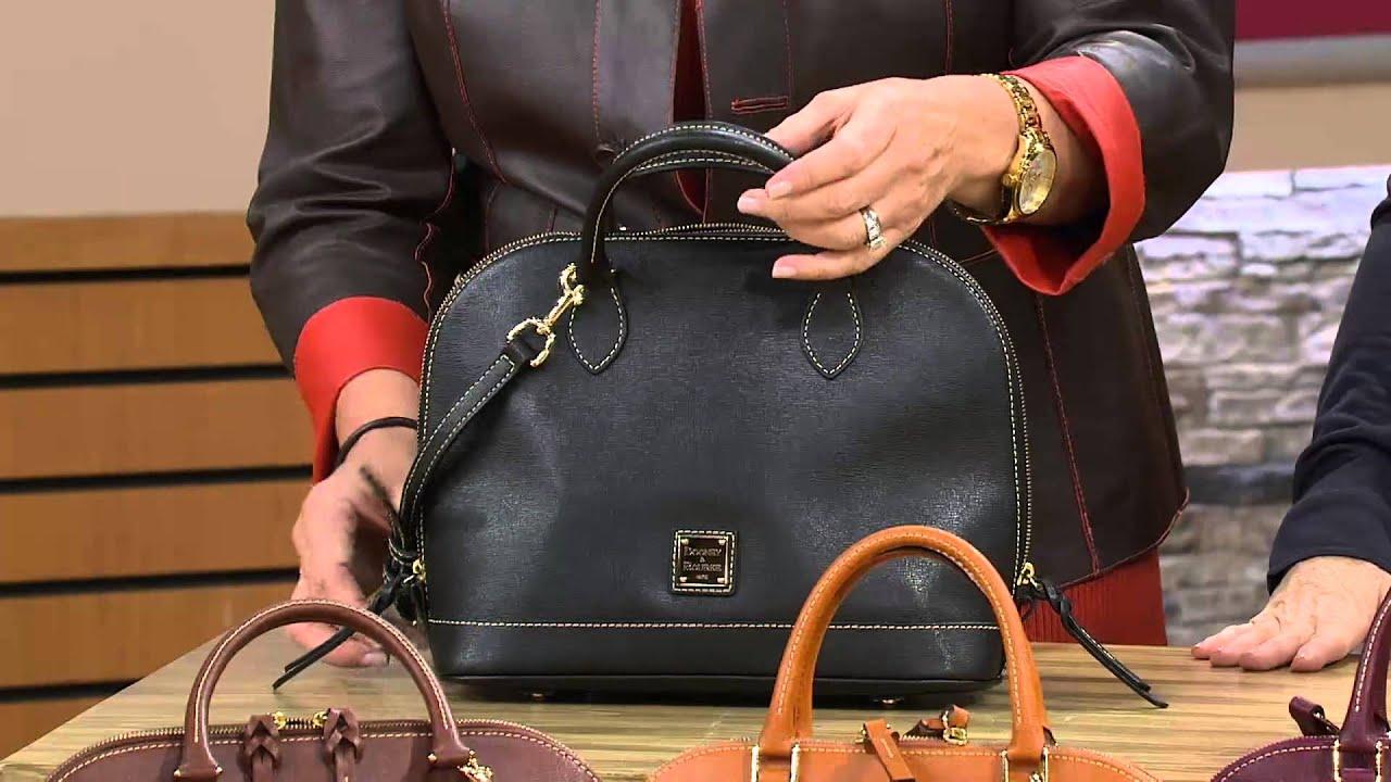 Dooney Bourke Saffiano Leather Zip Satchel With Jane Treacy