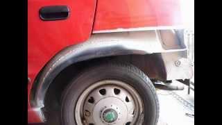 Felicie 1.3 MPI oprava zadního lemu a podběhu