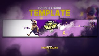 "Free Fortnite Youtube Banner Template | ""Off White"""