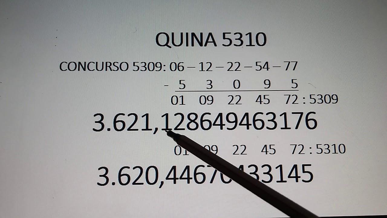 #JOGO#DA#QUINA                                            QUINA 5310