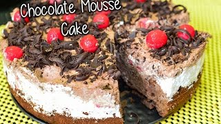 Chocolate Mousse Cake (eggless) Recipe By Chef Shaheen