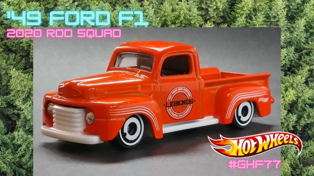 Hot Wheels 1:64 Orange 49 Ford F1 Kids Model Diecast Toy Car Rod Squad GHF77 NEW