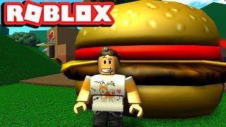 [ EATING THE WORLD'S BIGGEST BURGER ] ROBLOX BURGER TYCOON