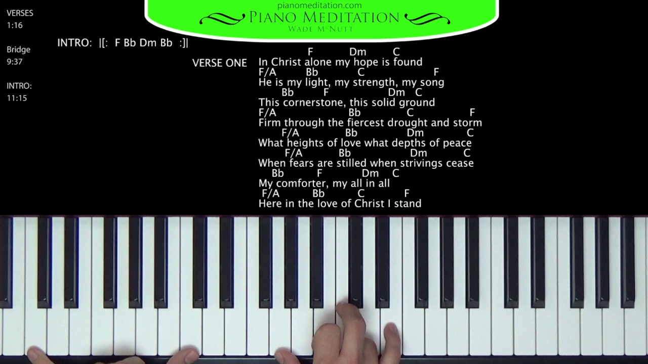 In christ alone kristian stanfill how to play on the piano in christ alone kristian stanfill how to play on the piano hexwebz Images