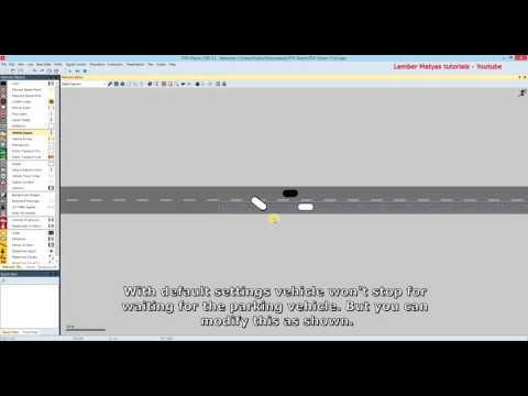 Vissim Tutorial - Lesson 9 - Roadside parking