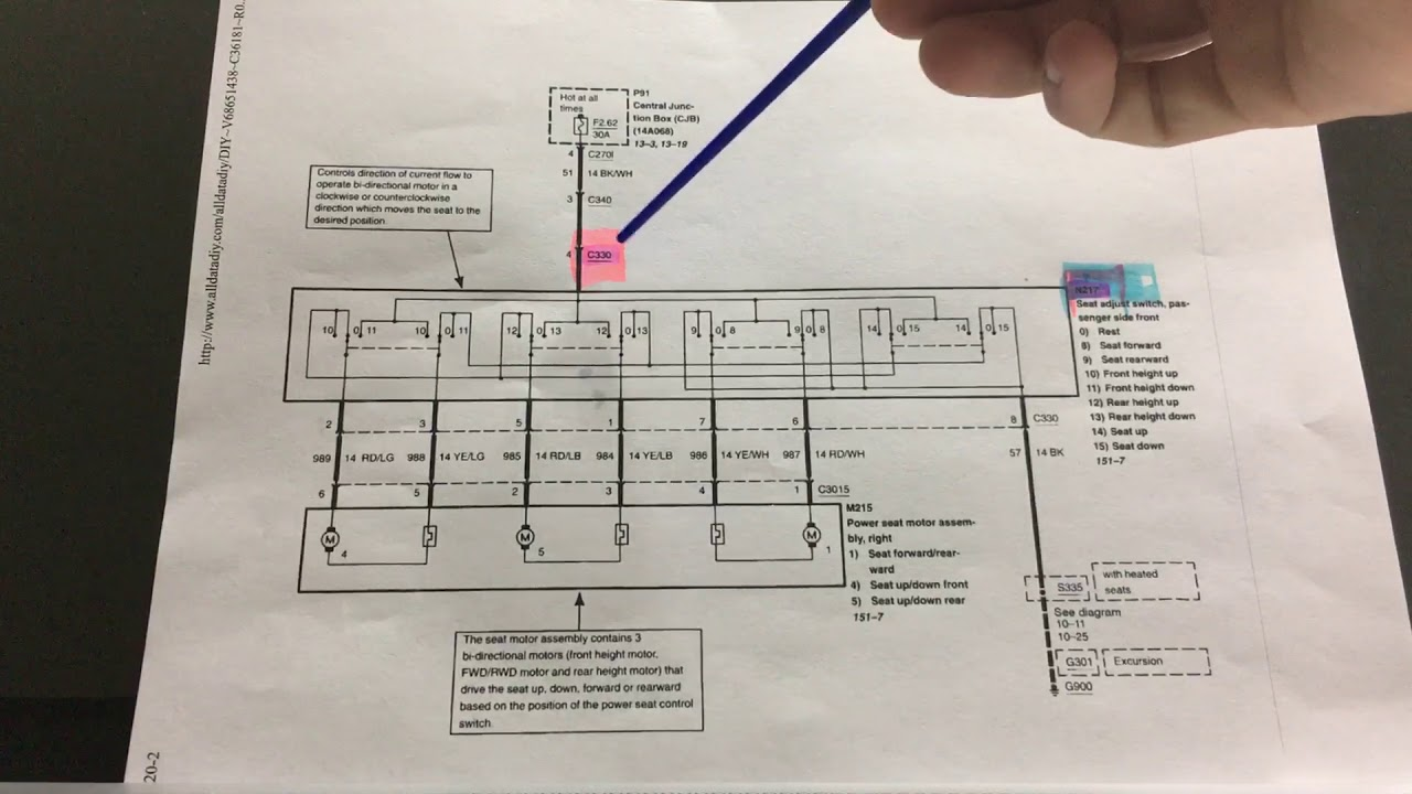 ford power seat wiring diagram wiring diagram 2005 Explorer Wiring Diagram