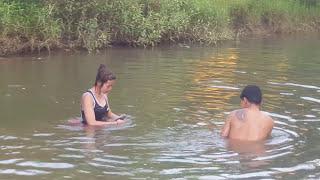 Amazing fishing at Battambang - people fishing in Cambodia - How to Catches fish (Part 294)