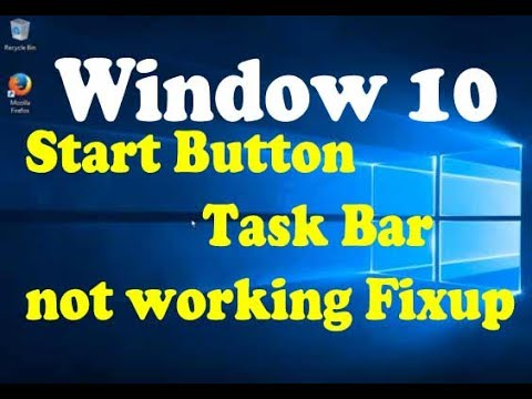 how to fix windows 10 taskbar start menu cortana not working issues