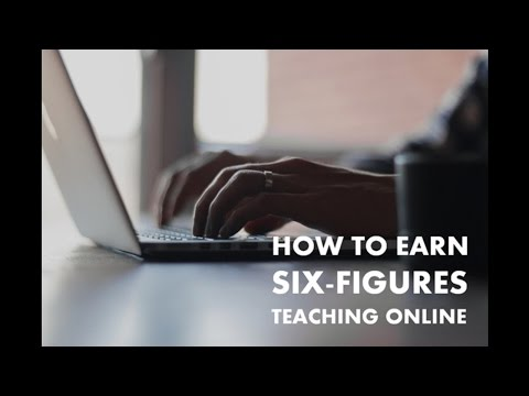 How to Earn 6-Figures Teaching Online Part-Time