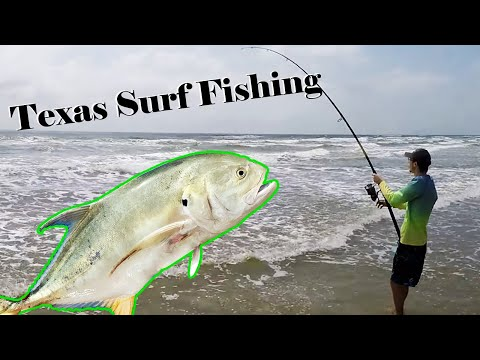 Secret To Surf Fishing The Texas Coast For Huge Jack Crevalle In 4k