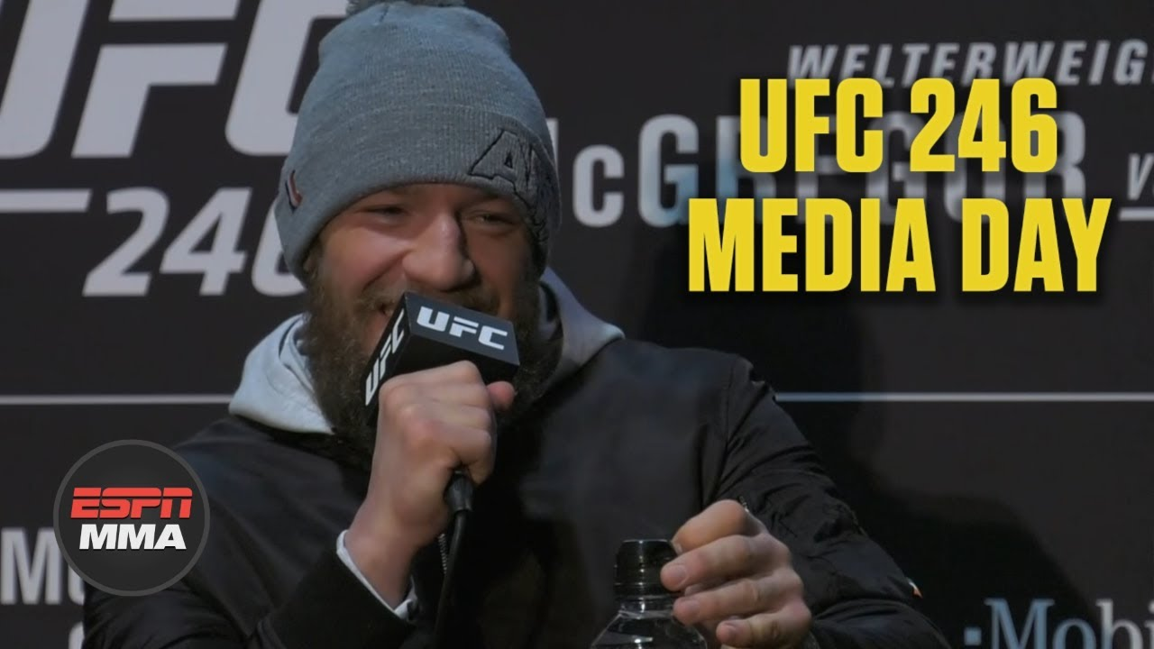 Conor McGregor UFC 246 Media Day Press Conference | ESPN MMA