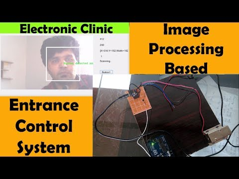 Arduino Image Processing human face recognition and Entrance control using e lock, vb.net, emgucv