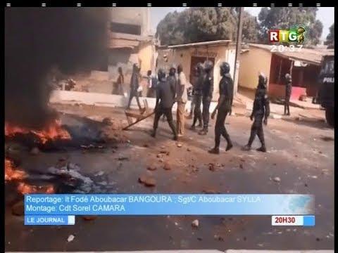 www.guineesud.com - Violences en Guinée : un policier trouve la mort. Le 8 nov.2018