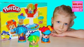 Фото Детская парикмахерская с пластилином плей до Сумасшедшие прически Play Doh Crazy Cuts