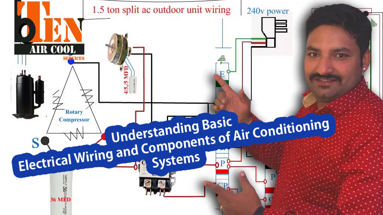 air       conditioner       wiring     YouTube