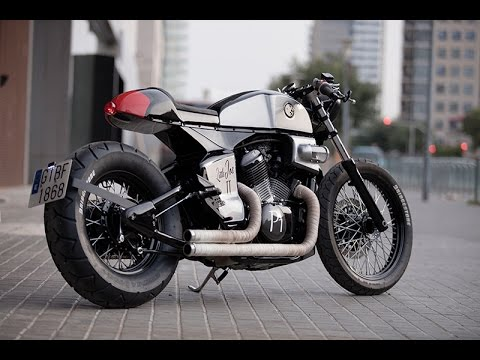 honda shadow café racerrocket supreme - youtube