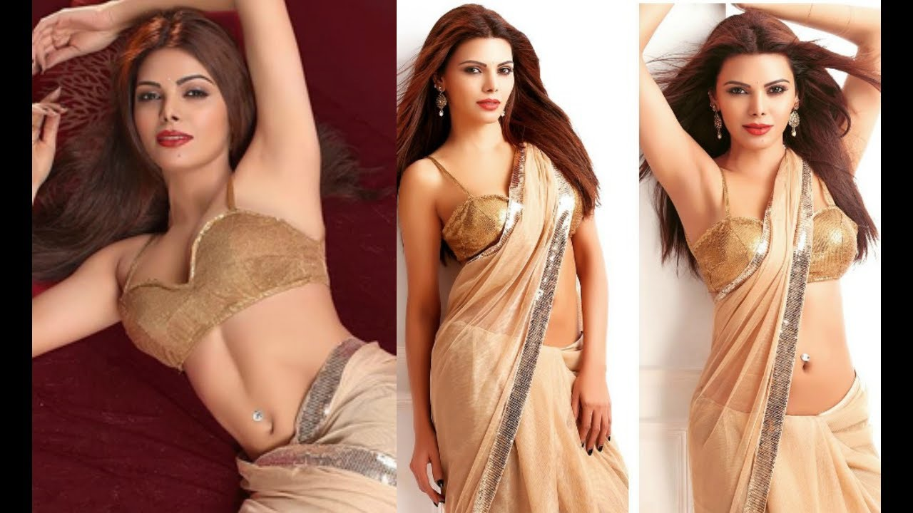 Sherlyn Chopra Poses In Hot Half Draped Saree For Photoshoot