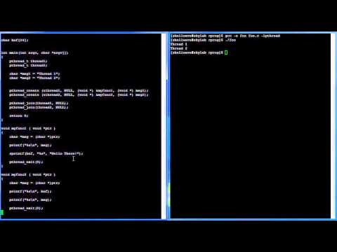 C Programming in Linux Tutorial #046 - Semaphore pthread
