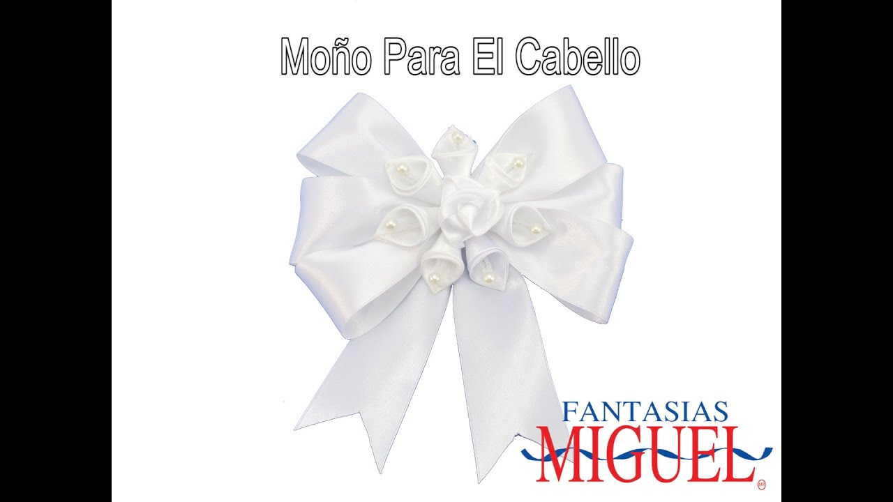c417200f31c0 Moño para el Cabello. - YouTube