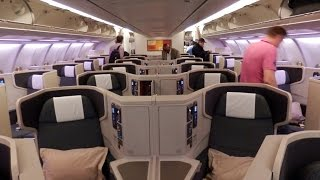 Cathay Pacific Airbus A330 business class Qatar to Hong Kong
