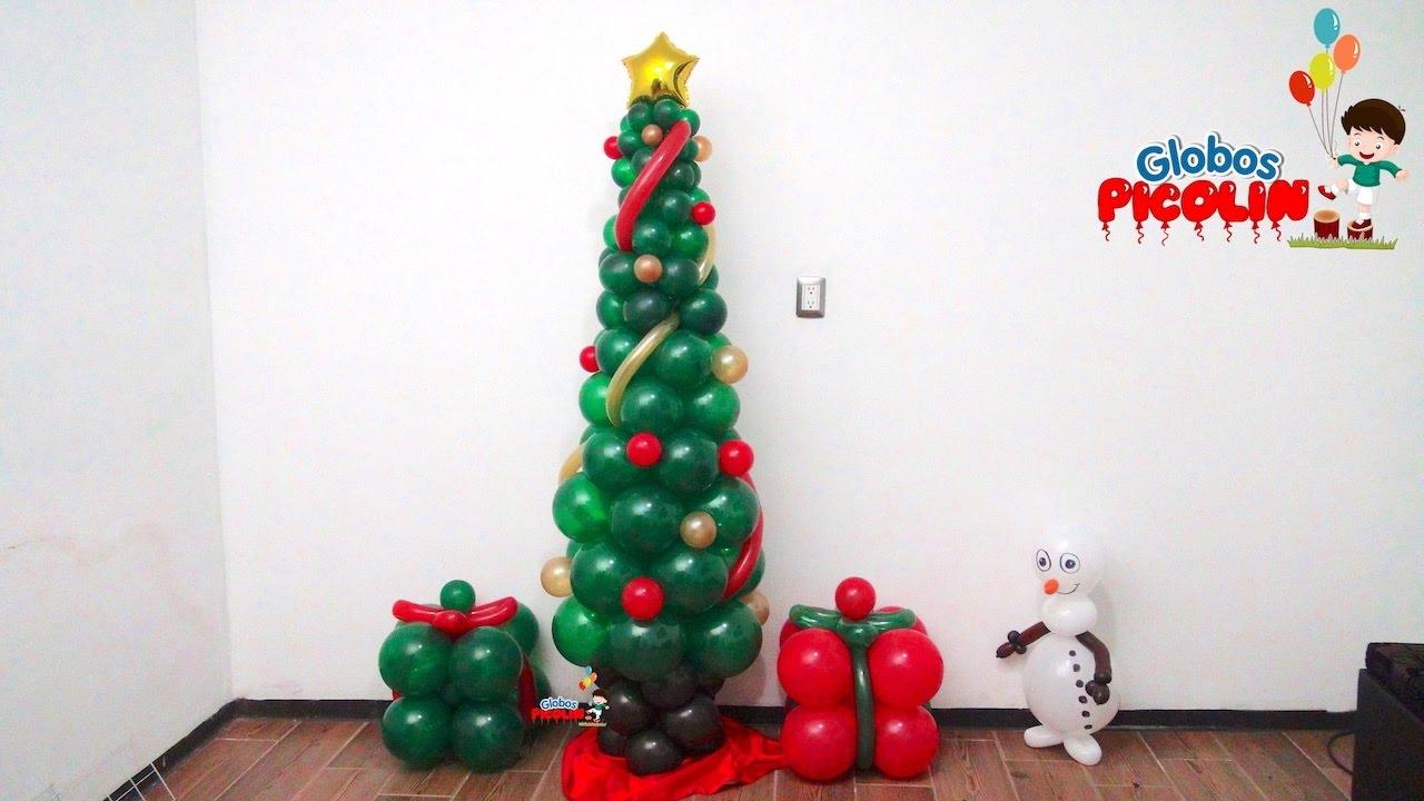 Arbol de navidad con globos con menos de 50 pesos 83 for Arreglo para puertas de navidad