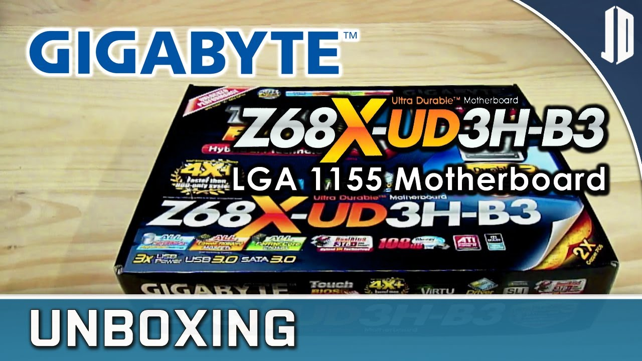 GIGABYTE Z68X-UD3H-B3 LGA 1155 Motherboard Unboxing + Overview