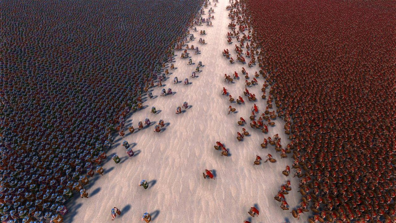 30000 ROMANS vs 30000 SPARTANS – Ultimate Epic Battle Simulator