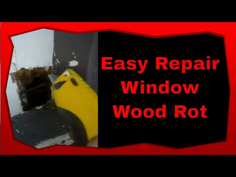 How To Repair Wood Rot Window Sill Frame GREAT TIPS