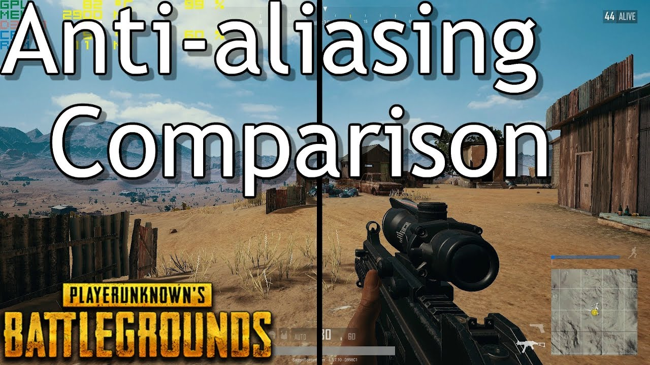 PlayerUnknowns Battlegrounds | Anti-aliasing Comparison | What's The  Difference? + Performance