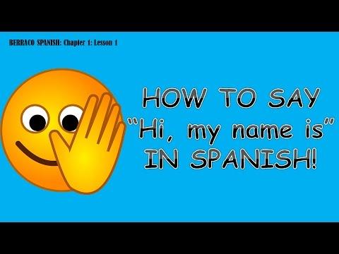 How do u order something in spanish hi