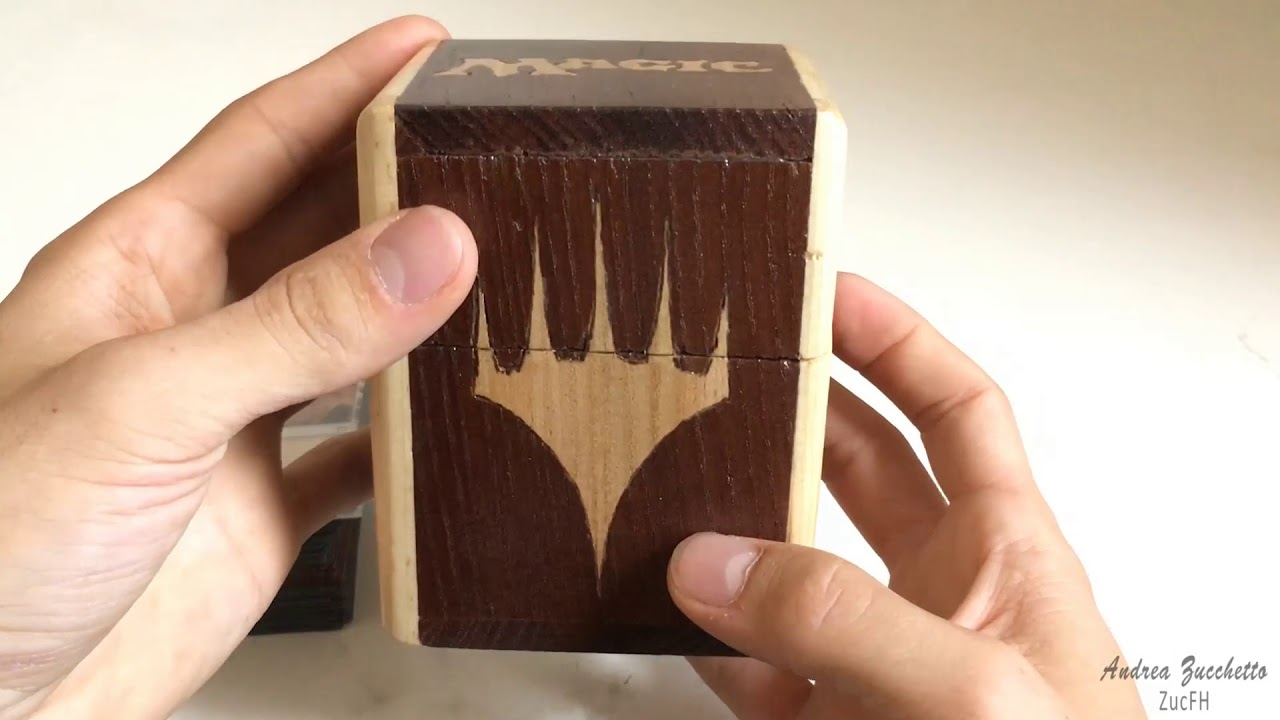 Magic The Gathering Hand Made Wooden Deckbox
