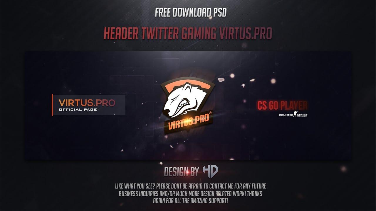 Houssem Designer | Template Header Twitter Gaming Virtus.Pro 2017 ...