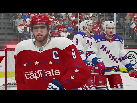 NHL 21 Gameplay - Washington Capitals vs New York Rangers Full Game Highlights - PS4 EA Play