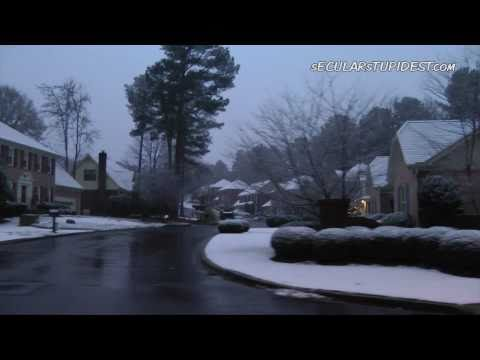Raw: Atlanta, GA 128 Year Snow On Christmas!  Global Warming?