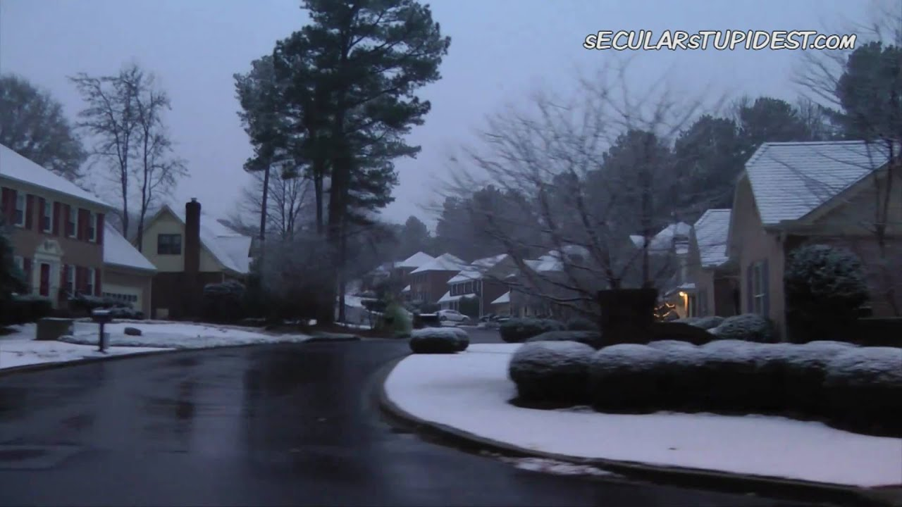 Raw: Atlanta, GA 128 Year Snow on Christmas! Global Warming? - YouTube
